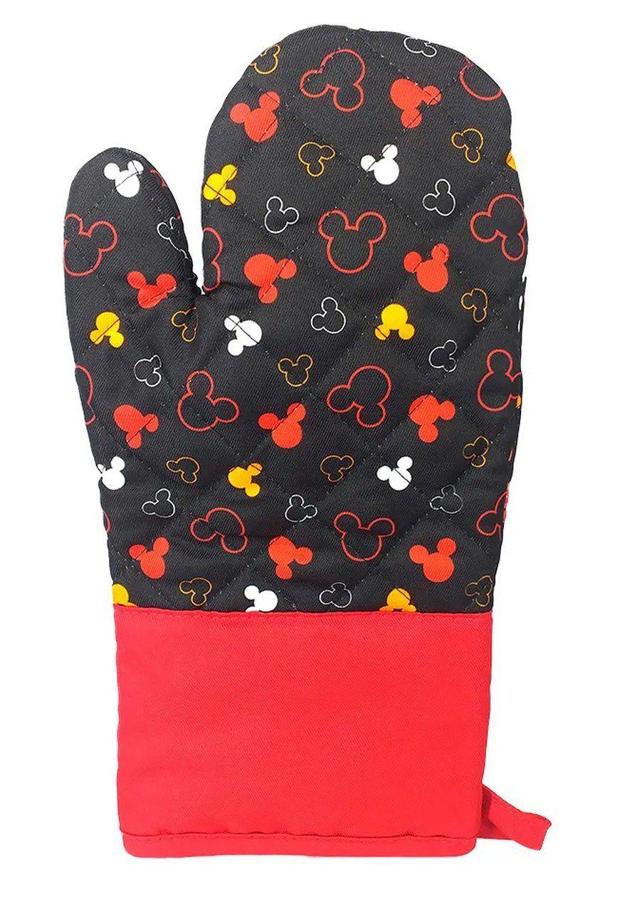 Luva de Forno/Cozinha Mickey Mouse: Disney (Preto)