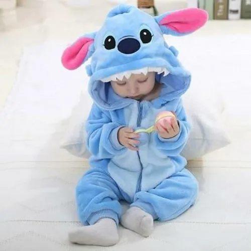 Macacão Pijama Bebê Infantil de Bichinho Stitch (12 Meses)