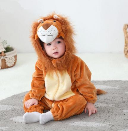Macacão Pijama Bebê Infantil de Bichinho: Leão Juba de Pelo (24 Meses) - MKP