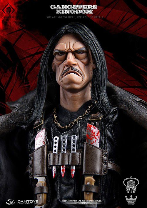 Action Figure Machete Cortez: Gangsters Kingdom (Diamond 3) Escala 1/6 - Dam Toys
