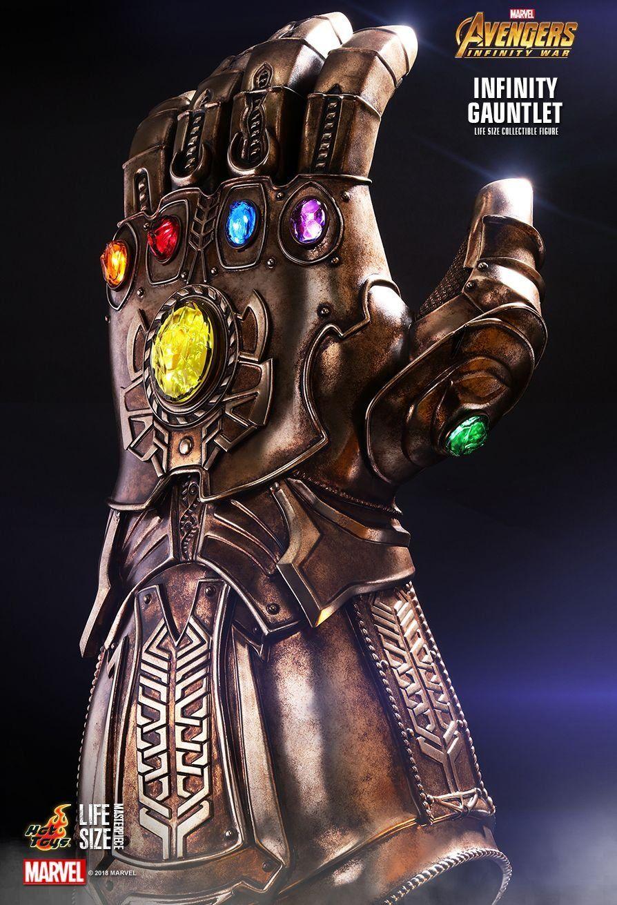 Manopla do Infinito (Infinity Gauntlet): Vingadores Guerra Infinita (Avengers Infinity War) LMS006 (Life Size) Escala 1/1 - Hot Toys