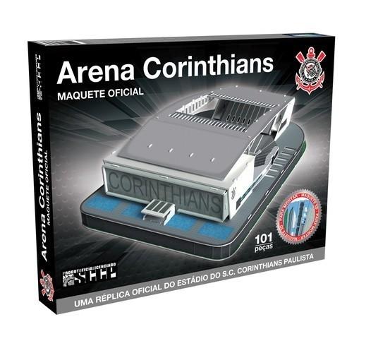 Maquete Estádio Arena Corinthians 3D com 101 peças