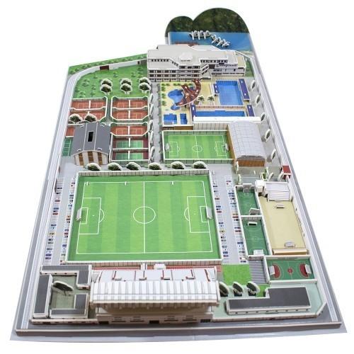 Maquete Estádio Gávea Flamengo 3D com 209 peças