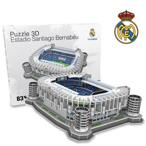 Maquete Estádio Santiago Bernabéu (Real Madrid) 3D com 83 peças
