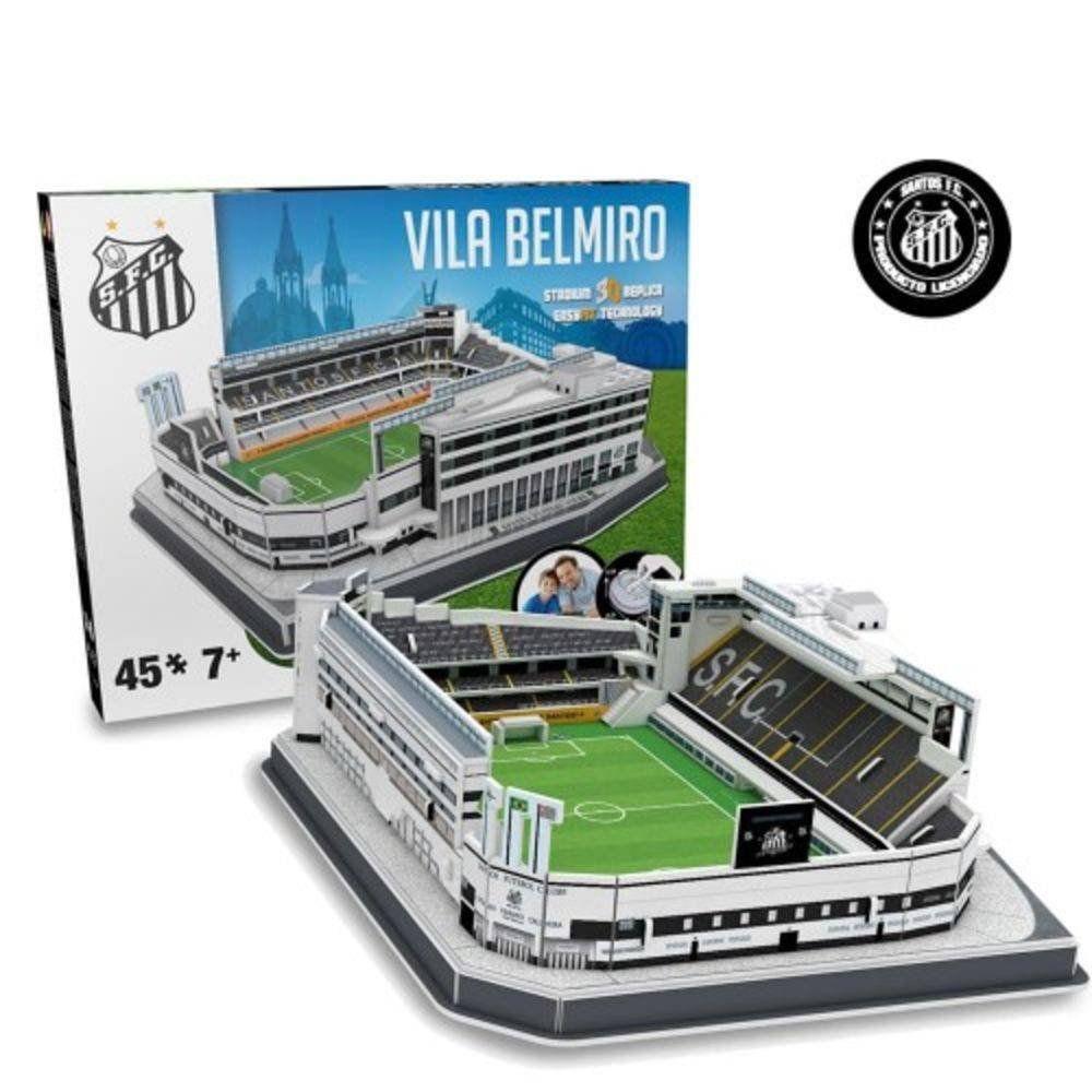 Maquete Estádio Vila Belmiro (Santos) 3D com 45 peças
