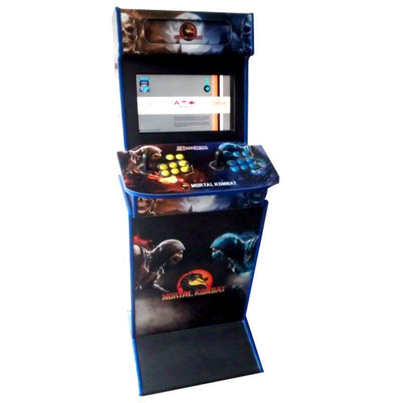 Máquina Fliperama Com Base (Controle Duplo Arcade): Desenho do Mortal Kombat
