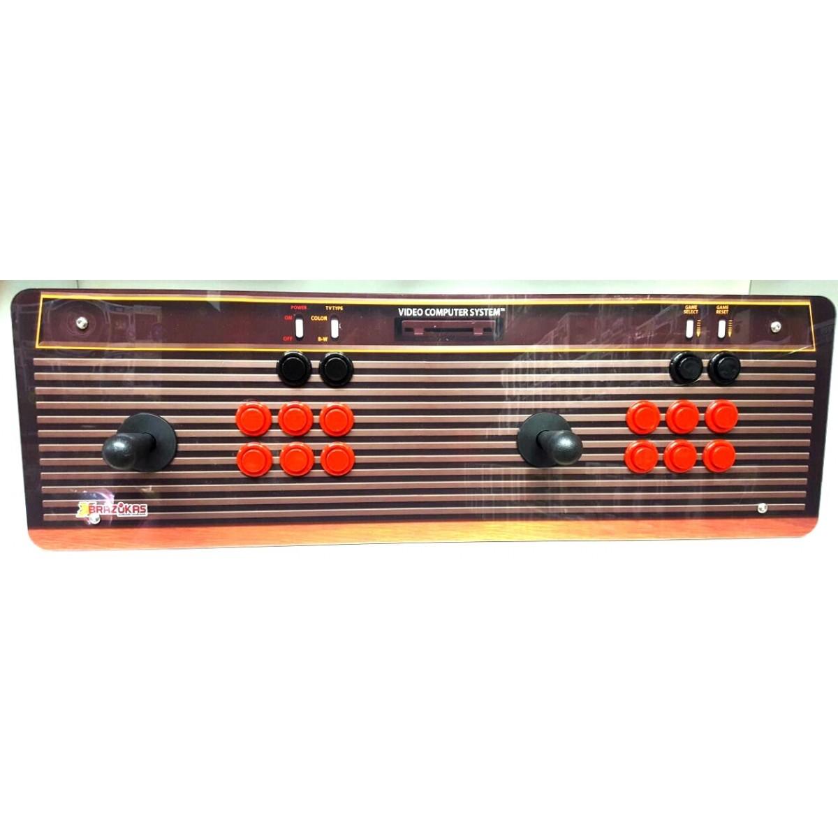 Máquina Fliperama (Controle Duplo Arcade) com desenho do Atari