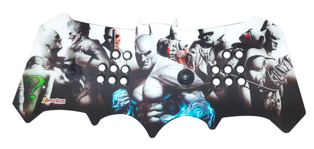 Máquina Fliperama (Controle Duplo Arcade) com desenho do Batman e Vilões