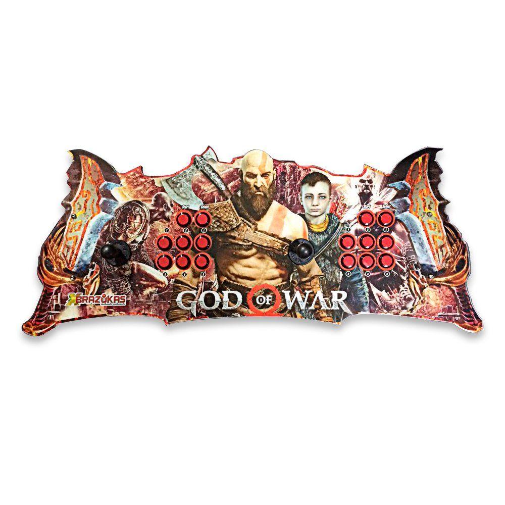 Máquina Fliperama (Controle Duplo Arcade) com desenho do God of War