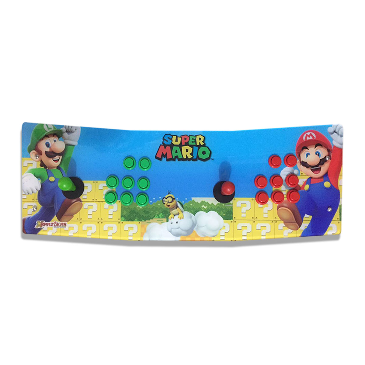 Máquina Fliperama (Controle Duplo Arcade) com desenho do Super Mario