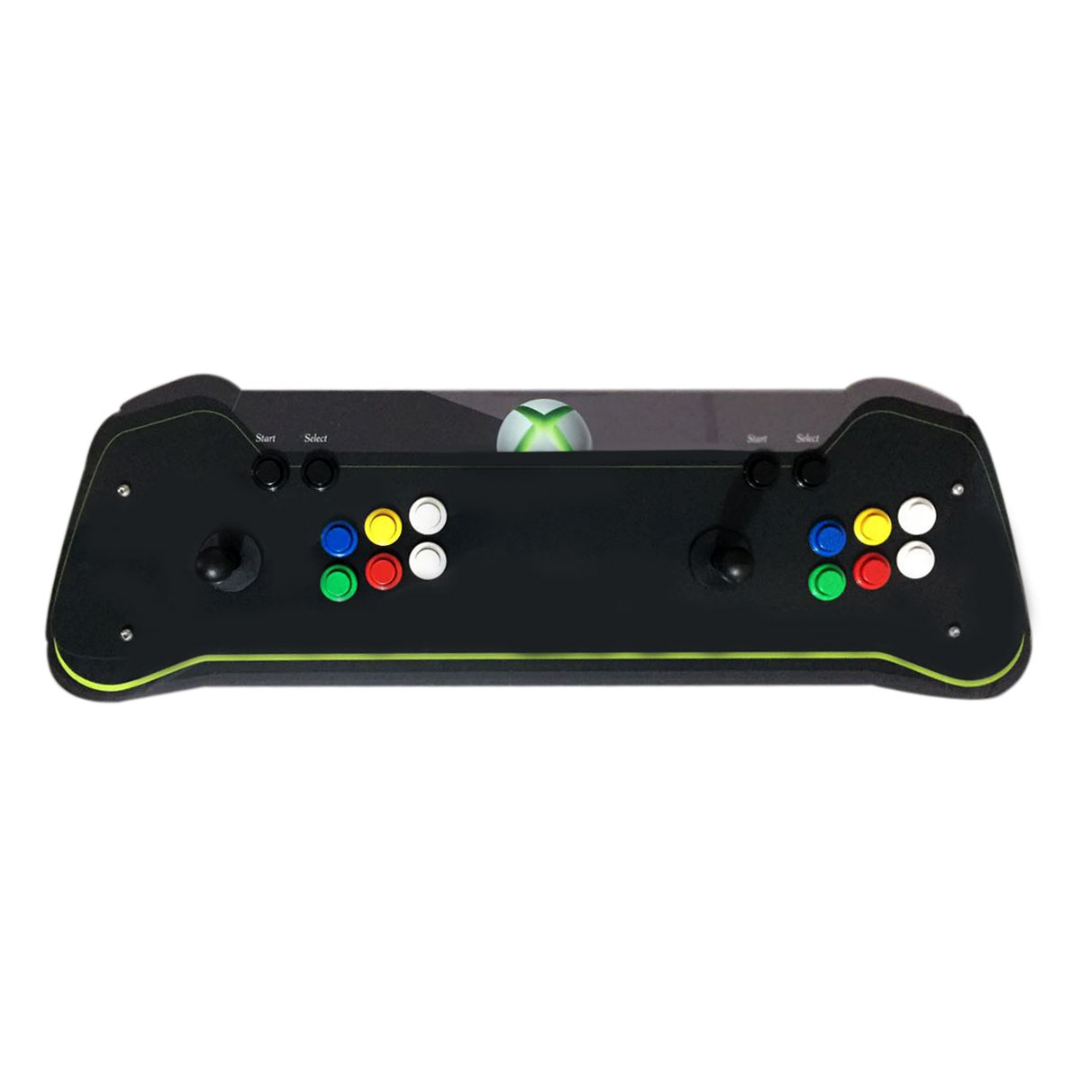 Máquina Fliperama (Controle Duplo Arcade) com desenho do Xbox