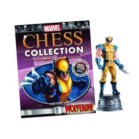 Marvel Chess #3 Wolverine White Bishop - Eaglemoss