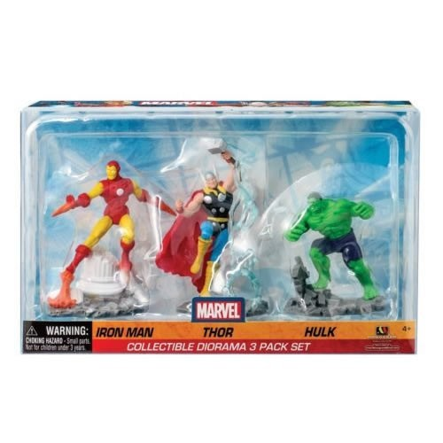 Marvel Figures - 3-Pack PVC Diorama Iron Man / Thor / Hulk - Monogram