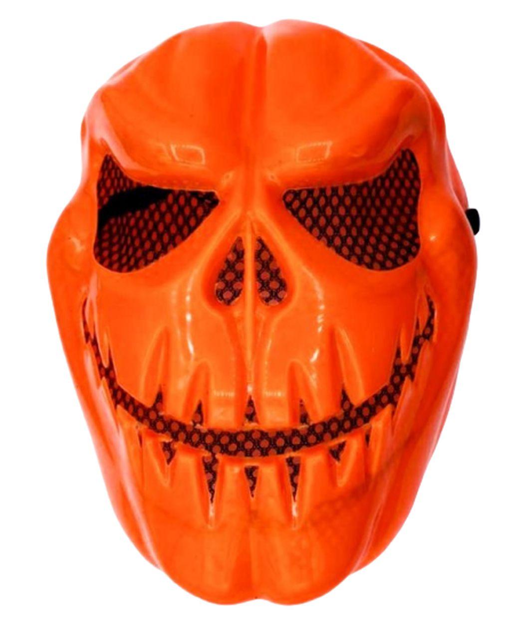 Máscara Abóbora Caveira Halloween - (Acessório Fantasia)