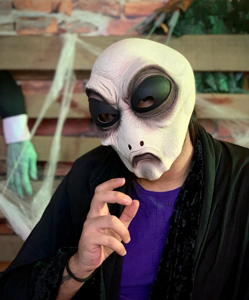 Máscara Alien E.T Extraterrestre: Terror Halloween Dia das Bruxas