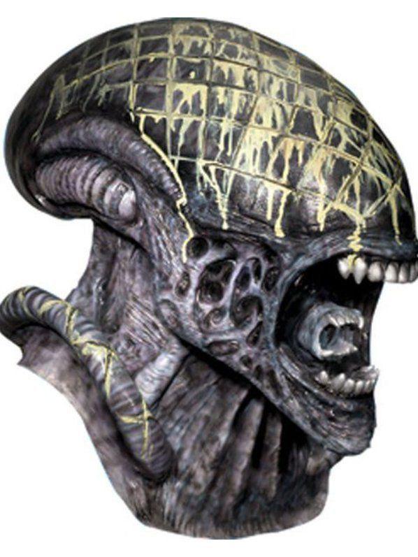 Máscara Alien Overhed Deluxe Latex - Rubbies Co