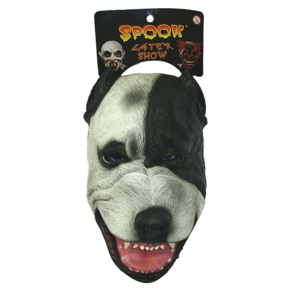 Máscara de Látex Cachorro Pit Bull Halloween