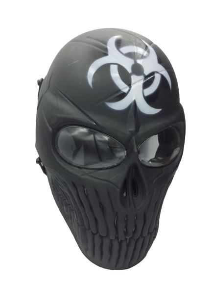 Máscara Vinil Cosplay Biohazard (Airsoft)
