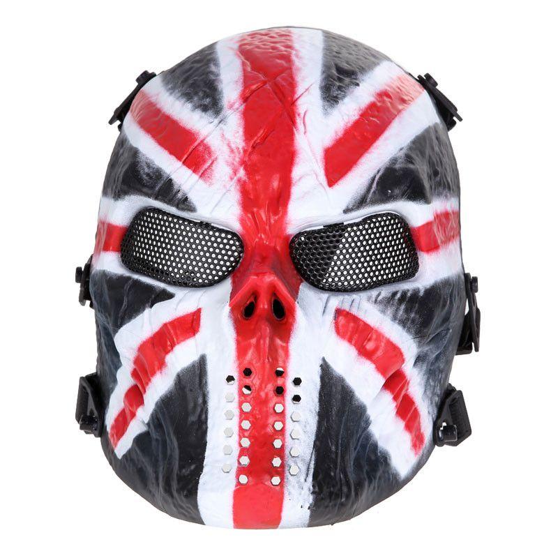 Máscara Vinil Cosplay Chiefs Warrior UK Flag (Airsoft)