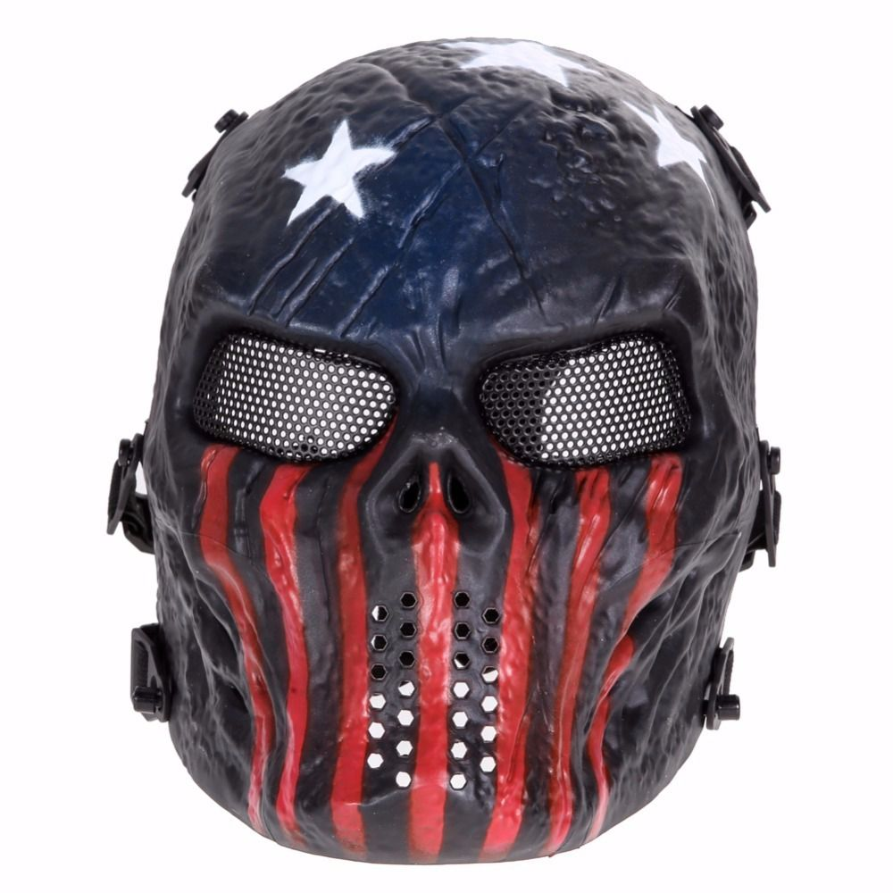 Máscara Vinil Cosplay Chiefs Warrior USA Flag (Airsoft)
