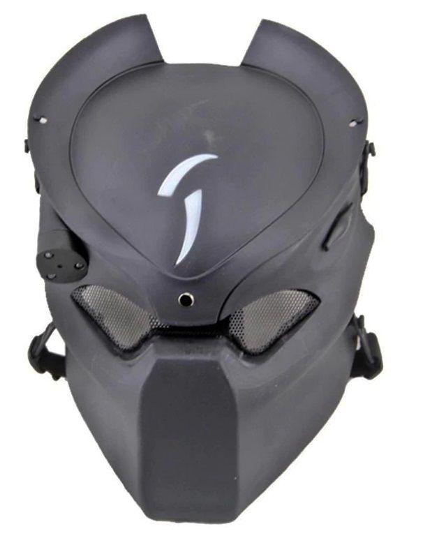 Máscara Vinil Cosplay Predador (Airsoft) (Preto)