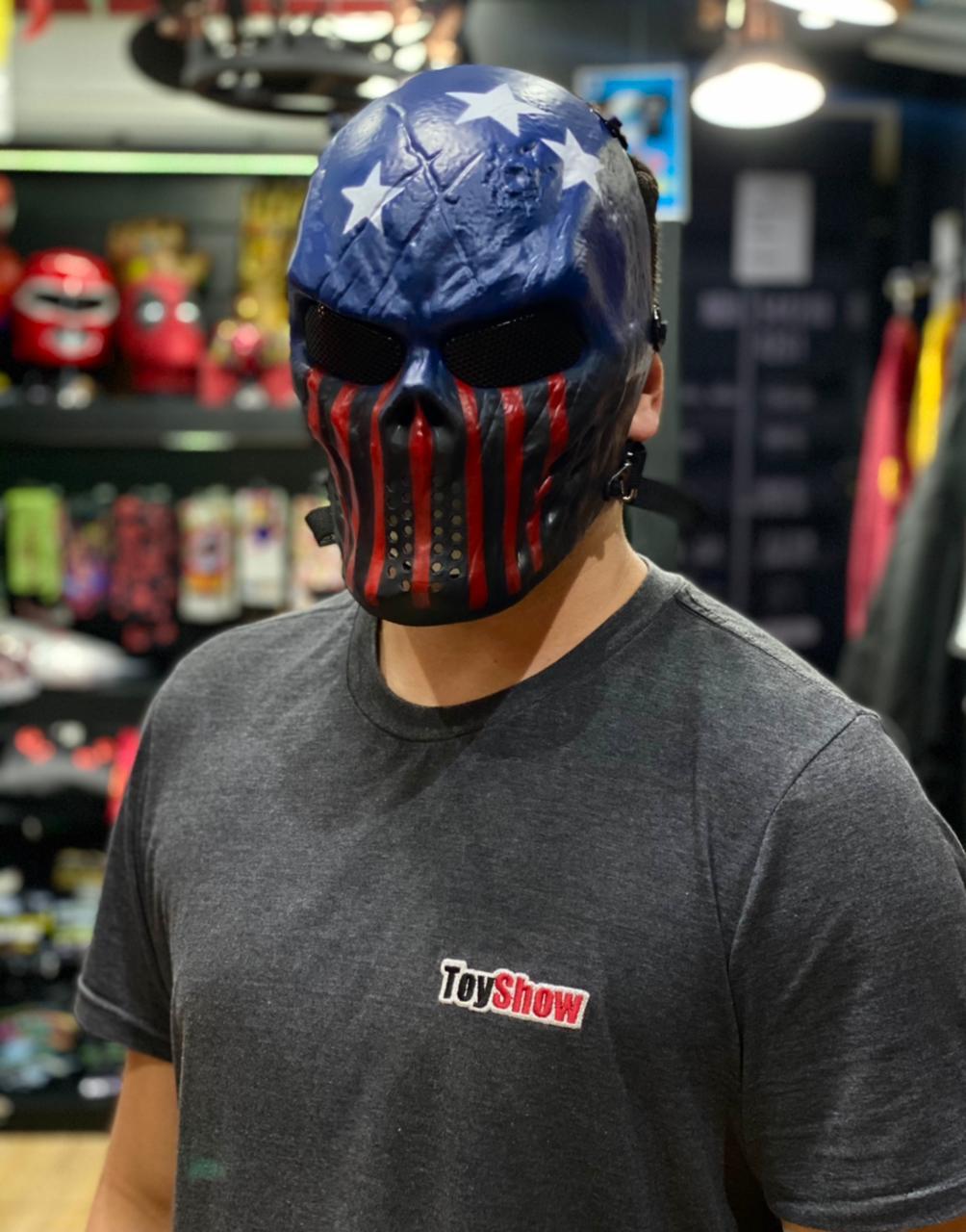 Máscara de Airsoft Tática Paintball Halloween Estados Unidos Americano U.S.A