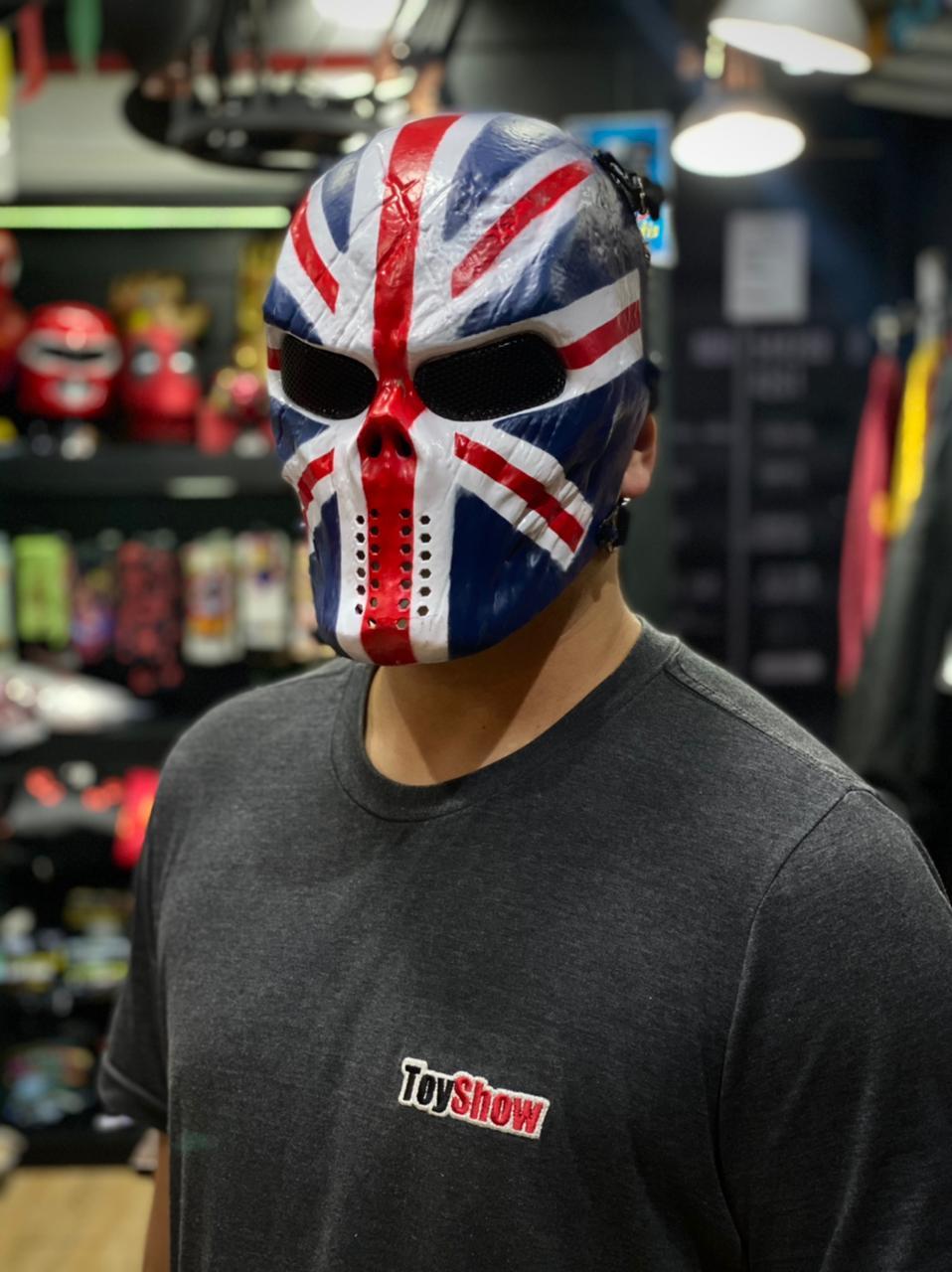 Máscara de Airsoft Tática Paintball Halloween Inglaterra Reino Unido