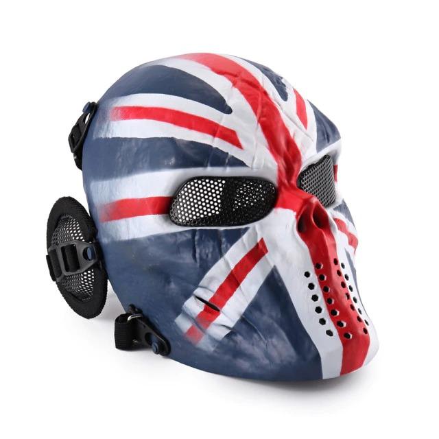 Máscara de Airsoft Tática Paintball Halloween Inglaterra Reino Unido - EVALI