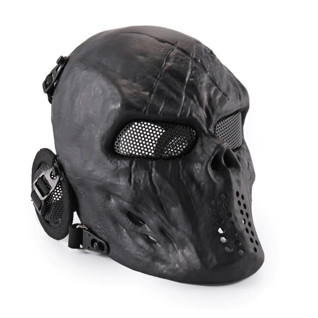 Máscara de Airsoft Tática Paintball Halloween Preta - EVALI