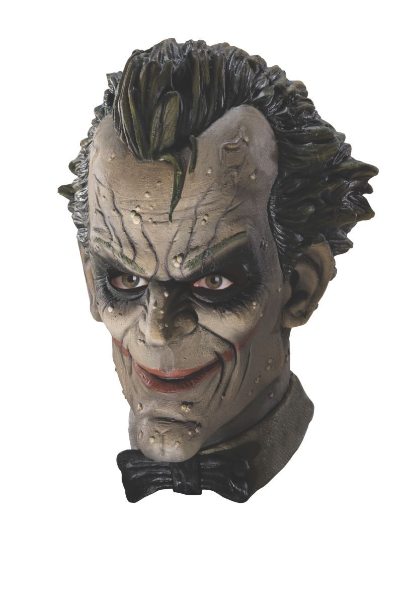 Máscara de Látex Coringa (The Joker): Batman: Arkham City (Acessório de Fantasia) - Rubies Costume - CD