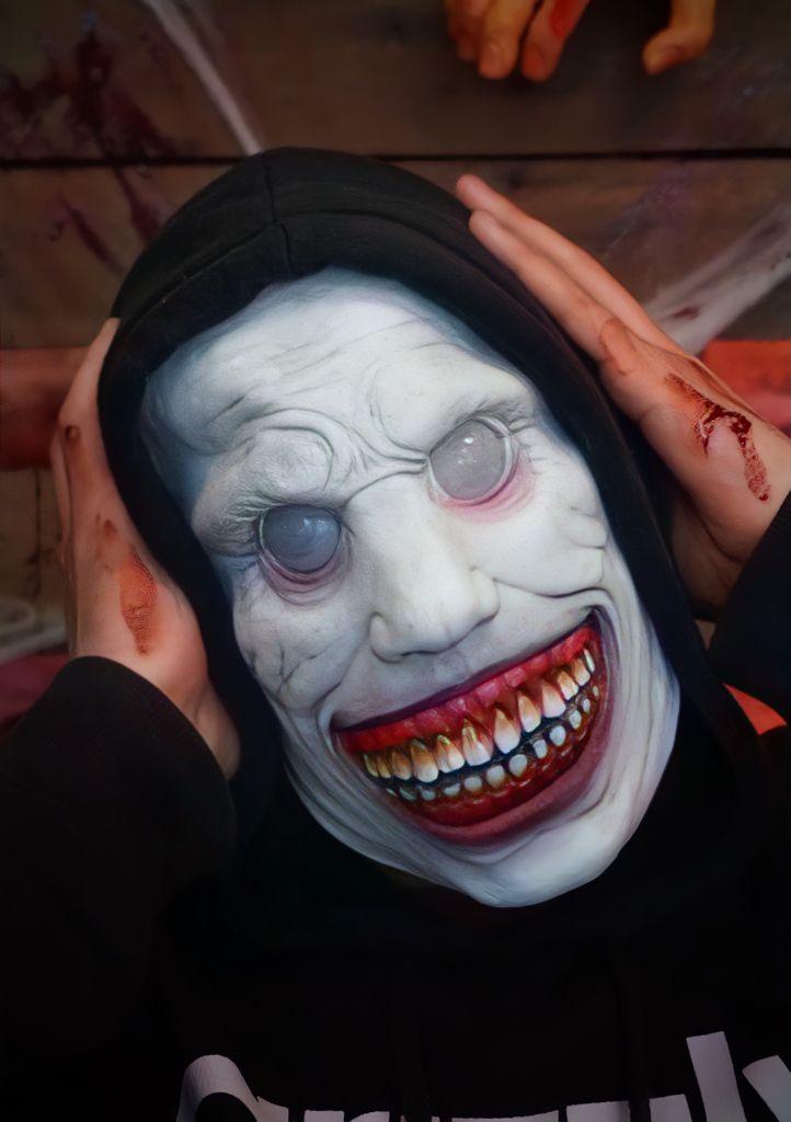 Máscara de Látex Halloween Demônio Sorrindo - MKP