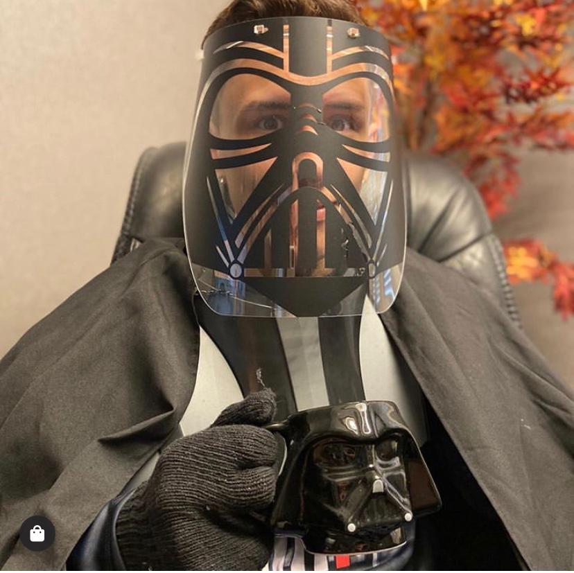 Máscara de Proteção Facial Transparente: Darth Vader (Star Wars)