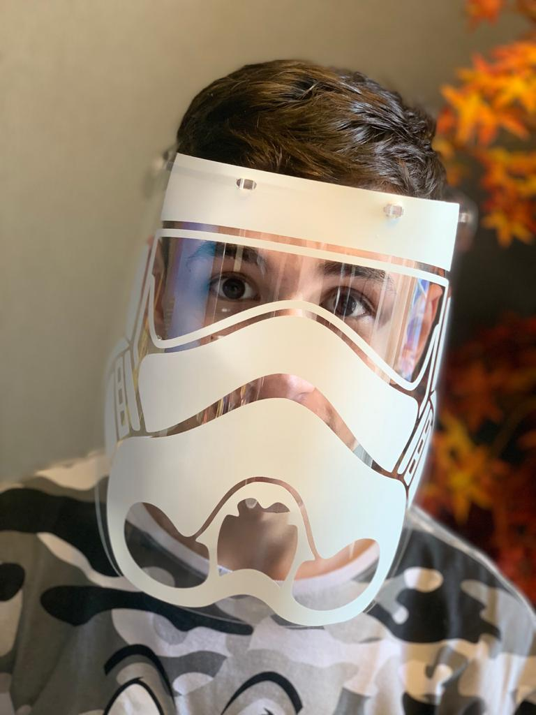 Máscara de Proteção Facial Transparente: Stormtrooper (Star Wars)