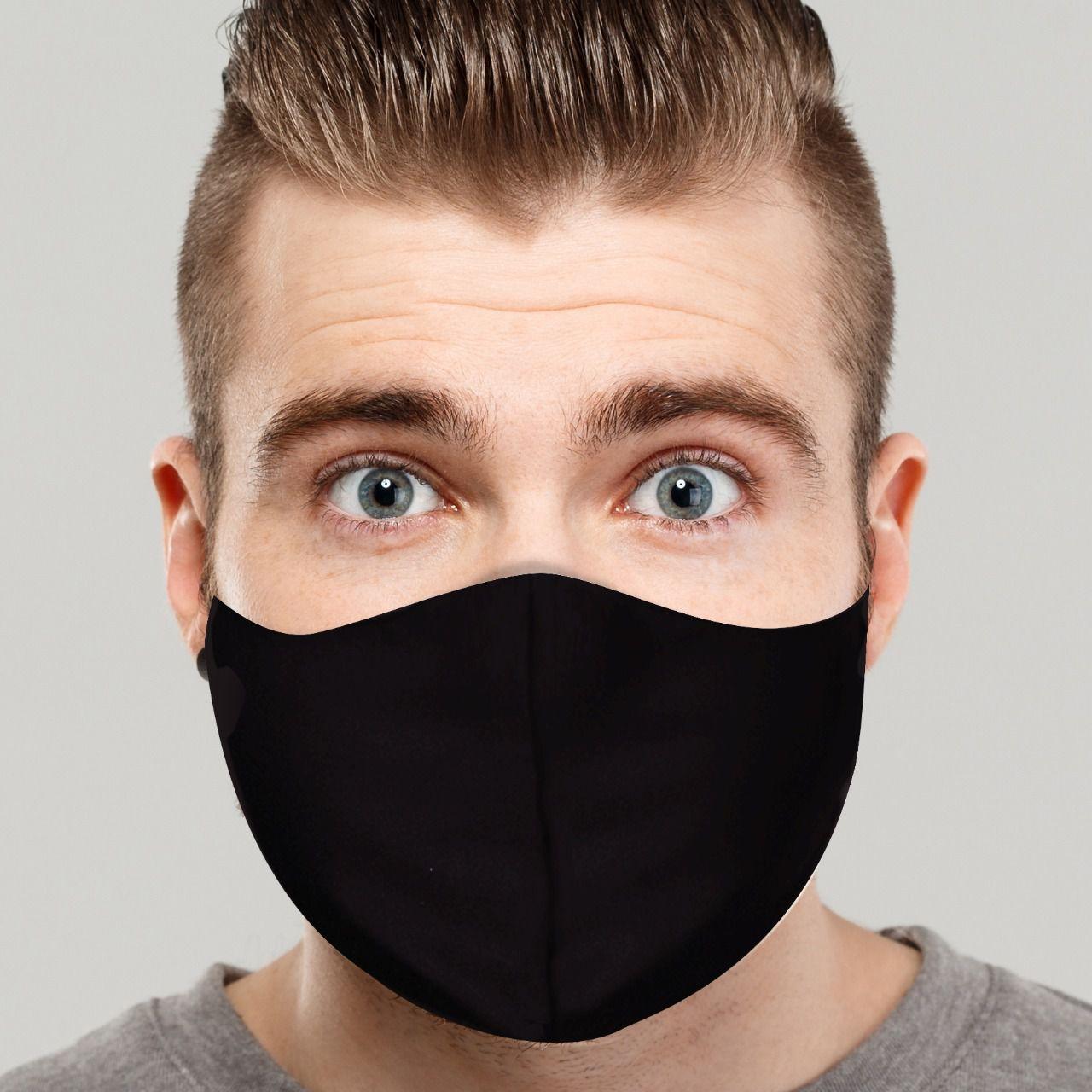 Máscara de Proteção: Lisa (Preta): Lavável Reutilizável - EV