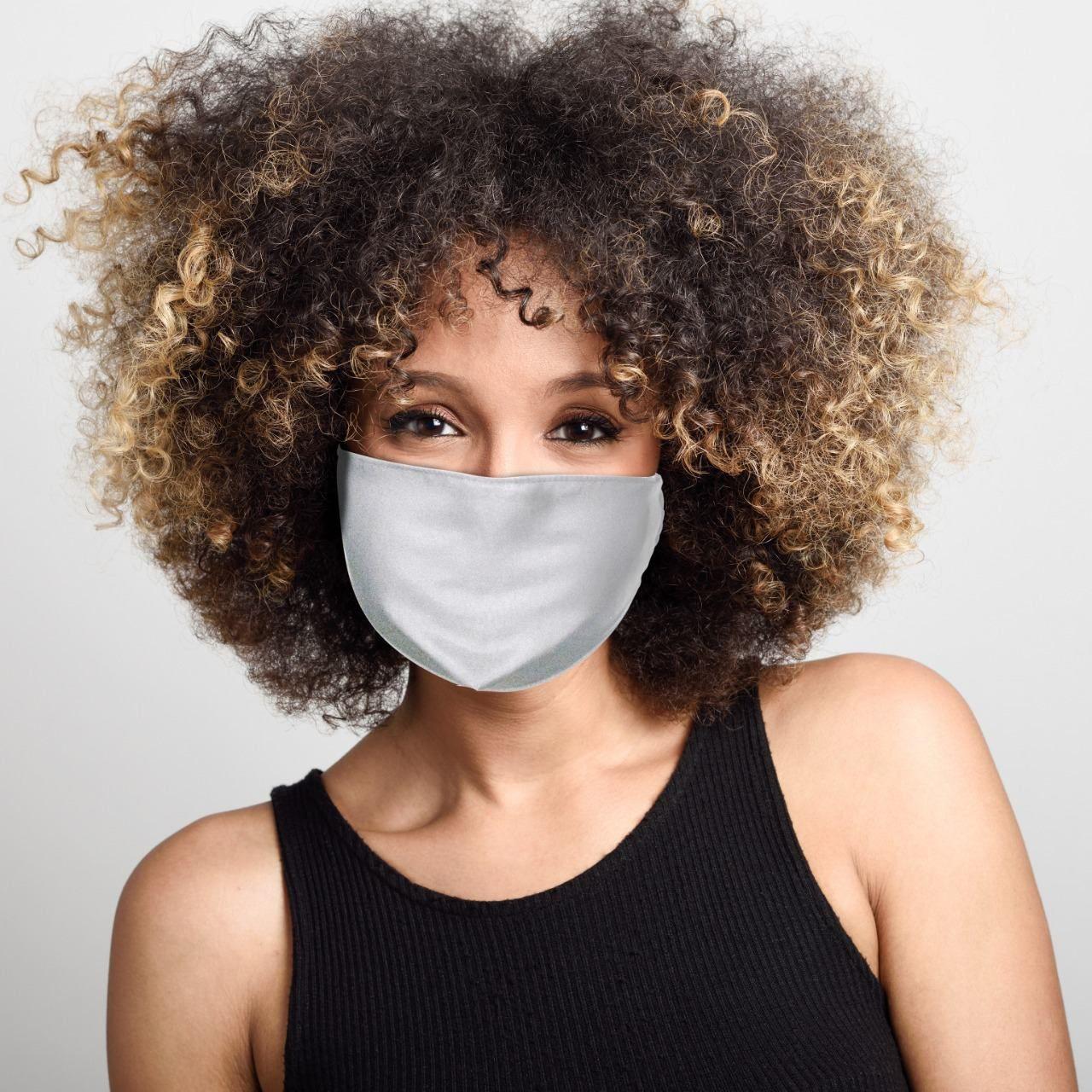 Máscara de Tecido Dupla Face: Lisa (Branca): Lavável Reutilizável