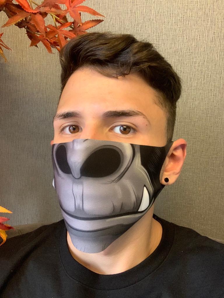 Máscara de Tecido Pequena (Neoprene) Personalizada Boca King Kong