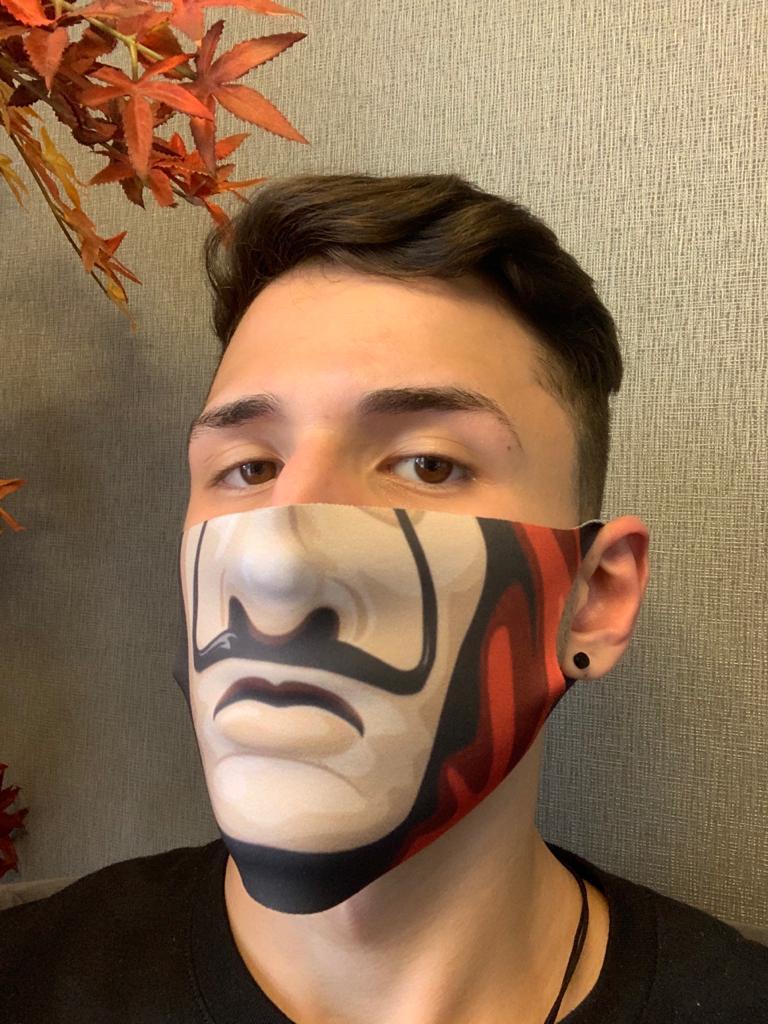 Máscara de Tecido Pequena (Neoprene) Personalizada Boca La Casa de Papel - EV