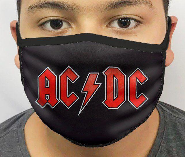 Máscara de Tecido Personalizada AC/DC Reutilizável - EV
