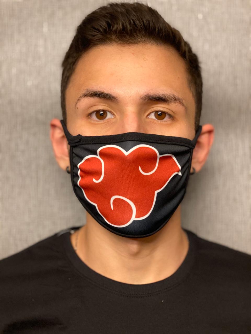 Máscara de Tecido Personalizada Akatsuki: Ninja Lavável Reutilizável - EV