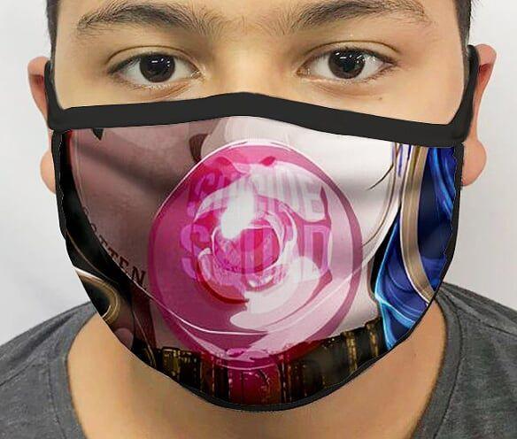 Máscara de Tecido Personalizada Rainha de Gotham Lavável Reutilizável - EV