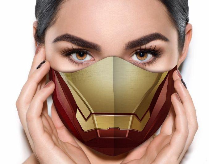 Máscara de Tecido Prime Personalizada Armadura de Ferro Reutilizável - EV
