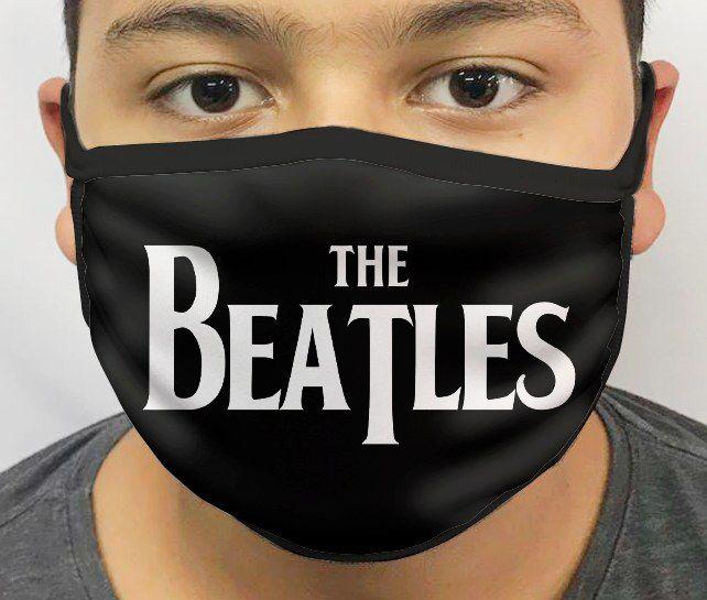 Máscara de Tecido Personalizada Beatles Lavável Reutilizável - EV