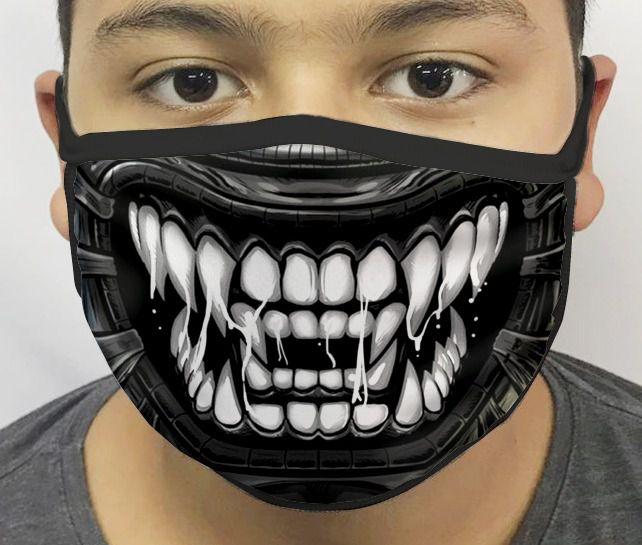 Máscara de Tecido Personalizada Boca Alien Reutilizável