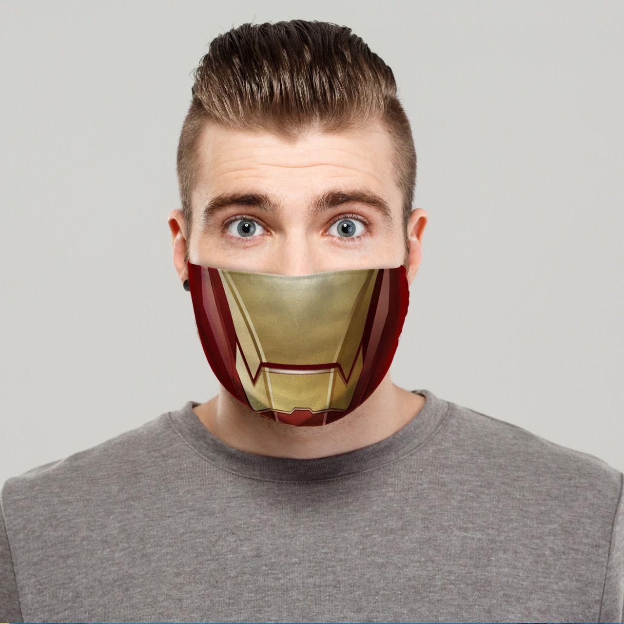 Máscara de Tecido Personalizada Boca Armadura de Ferro Lavável Reutilizável - EV