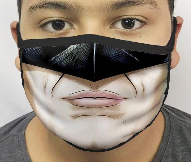 Máscara de Tecido Personalizada Boca Morcego 3 Reutilizável