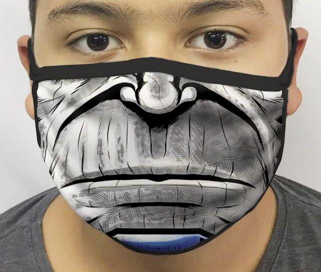 Máscara de Tecido Personalizada Boca Lado Negro Reutilizável - EV