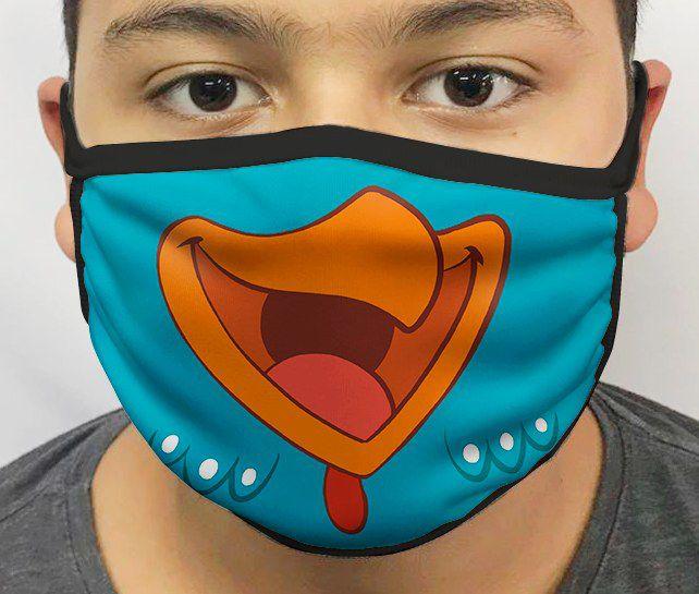 Máscara de Tecido Personalizada Boca Galinha Pintadinha Reutilizável - EV