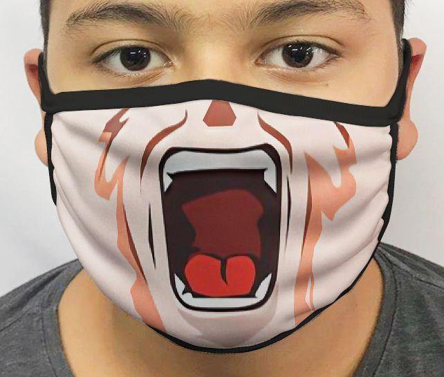 Máscara de Tecido Personalizada Boca Goku 4 Reutilizável