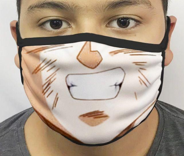 Máscara de Tecido Personalizada Boca Goku Reutilizável