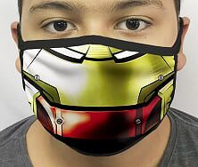 Máscara de Tecido Personalizada Boca Armadura de Ferro Grande Reutilizável - EV